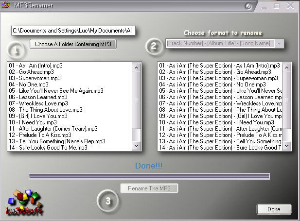 LuJoSoft MP3Renamer