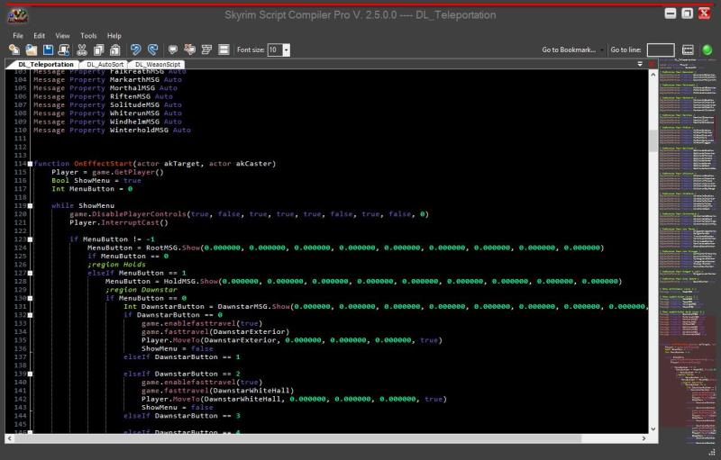 Click to view Skyrim Script Editor Pro 2.5.0.0 screenshot