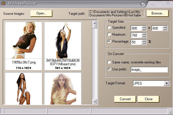 Click to view LuJoSoft MyImageResizer 1.0.0 screenshot
